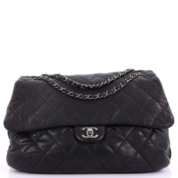 CHANEL Handbags - Chanel Maxi Quilted Black Lambskin Flap Bag